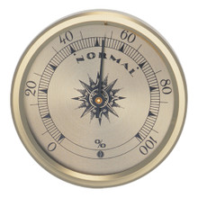 Analog Hygrometer 2.75 in. Gold Metal Bezel