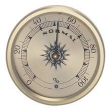 Analog Hygrometer 2.75 in. Gold Metal Bezel