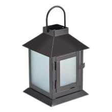 LED Coach Lantern in Frosted Glass with Timer