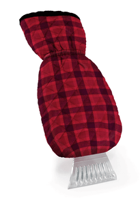 Ice Scraper Mitt in Buffalo Plaid