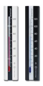 Analog Wall Thermometer Beech White-Black Finish 7.12 inch Hokco
