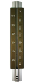 Analog Wall Thermometer Aluminum Bronze