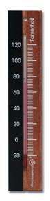 Analog Thermometer Beechwood Black Walnut Finish Hokco