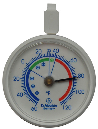 Refrigerator - Freezer - Cooler Thermometer Front Hokco
