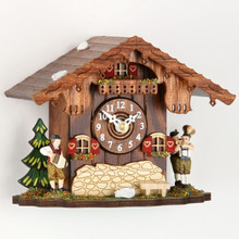 German Cottage Cuckoo Clock with Oompah Band