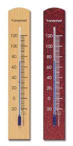 Analog Wall Thermometer Beechwood 2 Finishes Hokco