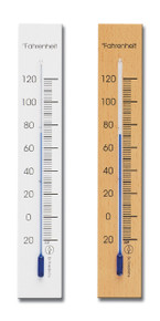 Wall Thermometer 6.75 inch Beech Two Finishes