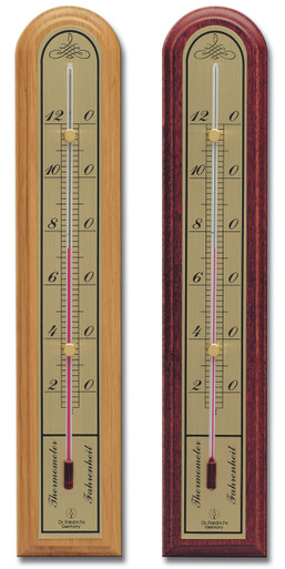 Analog Wall Thermometer 10 inch Brass Scale Hokco