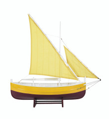 Biscay Fishing Boat Yellow Authentic Models AS089