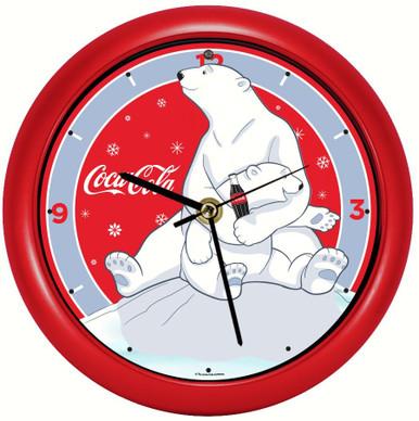 Coca-Cola® Polar Bear with Cub 8 inch Sound Clock