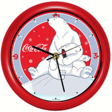 Coca-Cola® Polar Bear with Cub 8 inch Sound Clock
