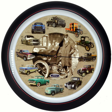 Ford® Truck 100th Anniversary 13 inch Sound Clock  by Mark Feldstein