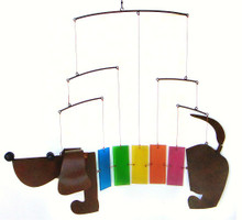 Gift Essentials Rainbow Dachshund Wind Chime