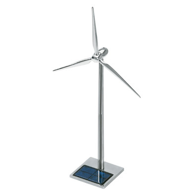 Solar Powered Metal Wind Turbine Desktop Model 19 inch