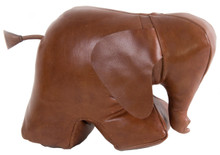Elephant Doorstop Leather by Authentic Models KD003