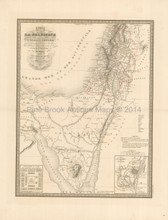 Ancient Holy Lands Antique Map Andriveau-Goujon 1837