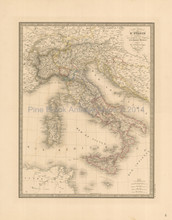 Italy Antique Map Andriveau-Goujon 1837
