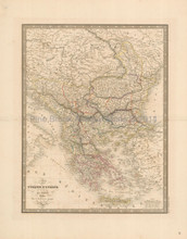 Balkans Greece Antique Map Andriveau-Goujon 1837