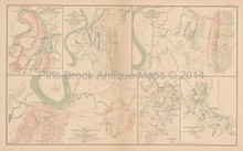Brown's Ferry Tennessee Civil War Antique Map 1895