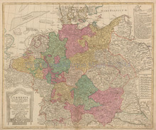 Germany Antique Map Lotter 1750