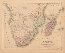 Southern Africa Antique Map Colton 1858