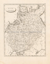 Russia Europe Antique Map Pinkerton 1804