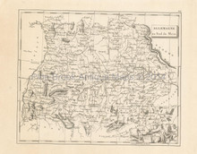 Southern Germany Antique Map Pinkerton 1804