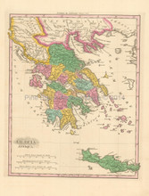 Ancient Greece Antique Map Finley 1831