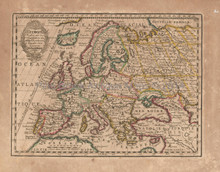 Europe Antique Map Chiquet 1719