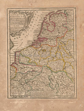 Netherlands Antique Map Chiquet 1719