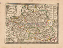 Poland Antique Map Chiquet 1719