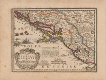 Balkans Antique Map Chiquet 1719