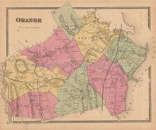 Orange Connecticut Antique Map Beers 1868