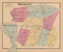 Bethany Connecticut Antique Map Beers 1868