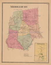 Middlebury Connecticut Antique Map Beers 1868