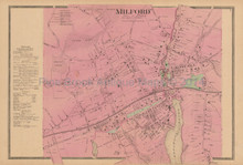 Milford Connecticut Antique Map Beers 1868 Town