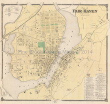 Fair Haven Connecticut Antique Map Beers 1868