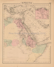 Northeastern Africa Antique Map Colton 1858