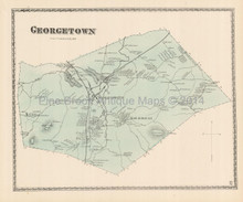 Town Georgetown Massachusetts Antique Map Beers 1872