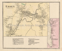 Essex Riverdale Massachusetts Antique Map Beers 1872