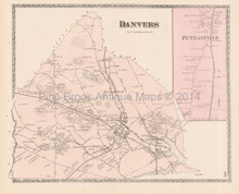 Town Danvers Massachusetts Antique Map Beers 1872