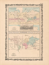 World Climate Antique Map Johnson 1861