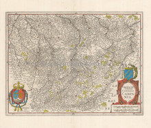 Champagne France Antique Map Jansson 1640