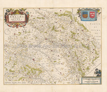 Reims France Antique Map Jansson 1640