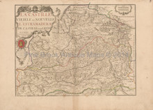 Western Spain Antique Map de Fer 1706