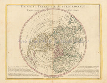 North Pole Antique Map Zatta 1779