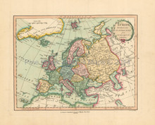Europe Antique Map Laurie & Whittle 1802