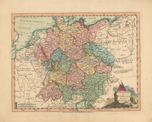 Germany Antique Map Laurie & Whittle 1802