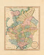 Russia Antique Map Laurie & Whittle 1802