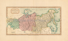 Russia In Asia Antique Map Laurie & Whittle 1802